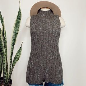 • MOSSIMO • gray knit high neck sweater top